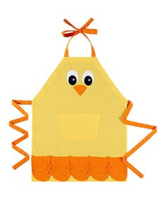 Take a look at this Yellow Chick Apron by C & F on #zulily today!