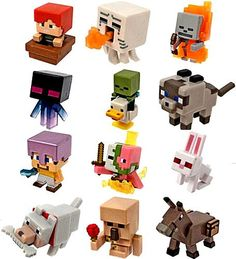 Minecraft Mini Figures Ice Series 5 Complete Set of 12 Includes all 12 Ice Series 5 Mini Figures: Attacking Ghast, Killer Rabbit, Spawning Zombie Pigman, Lego Minecraft, Minecraft Mini Figures, Mojang Minecraft, Minecraft Drawings, Minecraft Pictures, Lego Trains, Minecraft Birthday Party, Christmas Toys, Christmas Deals