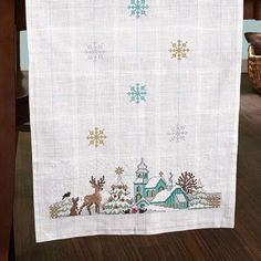 Craftways® Winter Village Table Runner Counted Cross-Stitch Kit $49.99