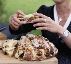 Cracked Fig and Pepper Bread. Yum with cheese..