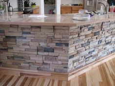 tile countertops | ... veneer panels virtually of renal stone wall with tile countertop close