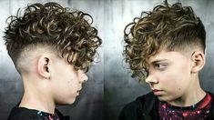 Boys With Curly Hair, Curly Hair Cuts, Short Hair Cuts, Curly Hair Styles, Queer Hair, Curly Undercut, Beard Haircut, Men Perm, Pompadour