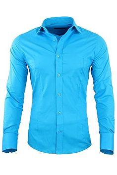 RBC Redbridge by CIPO & BAXX Slim Fit Hemd Polo Shirt Kentkragen Polo R-2116 Verschiedene Farben (L, Türkis)