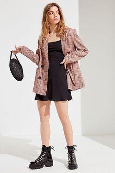 UO Adele Square Neck Mini Dress