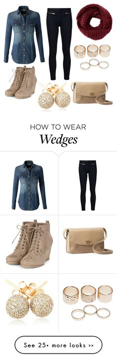 """""""Untitled #280"""" by fashiondragon0 on Polyvore featuring LE3NO, Veronica Beard, TOMS, Wet Seal, Loushelou and UGG Australia"""