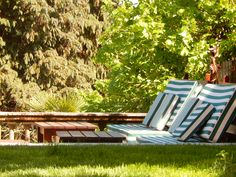 Relax in the green at White Lilac Outdoor Chairs, Outdoor Furniture, Outdoor Decor, B & B, Lilac, Boutique, Green, Home Decor, Decoration Home
