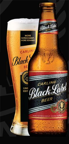 Carling Black Label is easy to drink and goes well with South African climate Home Brewing, Brewing Co, Beer Of The Month, Welcome Home Parties, Beers Of The World, Natural Preservatives, Beer Brands, Water Recipes, Beer