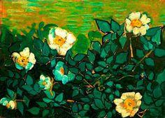 Vincent Van Gogh - Wild Roses. Saint-Rémy-de-Provence, May-June 1889. Oil on canvas, 24.5 cm x 33.5 cm. Van Gogh Museum, Amsterdam (Vincent van Gogh Foundation), Netherlands