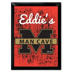 Our personalized man cave sign, makes for the best gift for the husband, brother or dad who has built a place to call his own. Personalized with name and year.