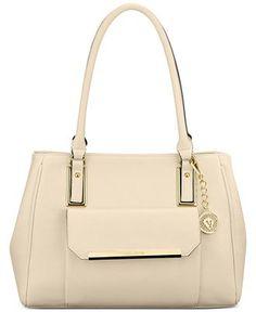 Anne Klein Shimmer Down Large Satchel - Anne Klein - Handbags & Accessories - Macy's