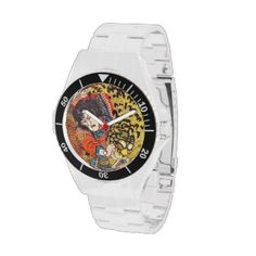 One of the 108 Heroes of the Popular Water Margin Wristwatch #hero #fighting #tiger #customizable #japanese #japan #warrior #samurai #christmas #gift #vintage #accessories