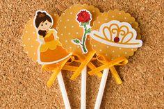 Festa Expressa - Princesa Bela - Tuty - Arte & Mimos www.tuty.com.br O kit está disponível a pronta-entrega. www.tuty.com.br #festa #personalizada #pronta #party #tuty #bday #princesa #princess #bela #disney
