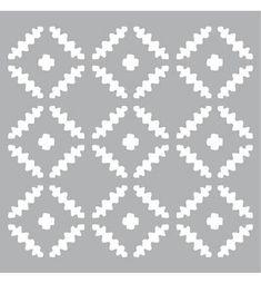 Pronty Mask Stencil.  Geschikt als verfsjabloon.  Te gebruiken met bijvoorbeeld acryl of chalkverf.   Maat van het sjabloon 15x15cm.