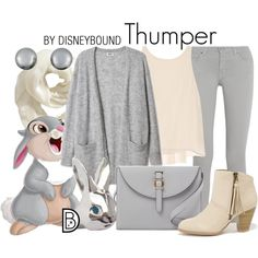 Thumper by leslieakay on Polyvore featuring Alice + Olivia, dVb Victoria Beckham, Qupid, Meli Melo, Kenneth Jay Lane, Lazy Oaf, Old Navy, Thumper, disney and disneybound