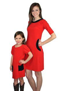 Matching mother-daughter dress - Emma Red Dress | meNmommy.com