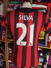 For Sale - Jersey Manchester City FC 2011/12 (Youth XL)#21 Silva Away Shirt Spain Camiseta - See More at http://sprtz.us/ManCityEBay