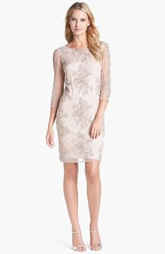 Pisarro Nights Embellished Sheer Sleeve Tulle Dress available at #Nordstrom @Nancy Shimomura