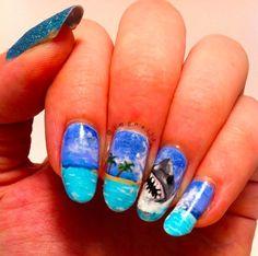 21 Terrifyingly Cool Shark Week Nail Art Looks
