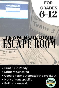 Escape room style team building activity - perfect for before the holidays and back to school! This escape room will help students learn to work together.