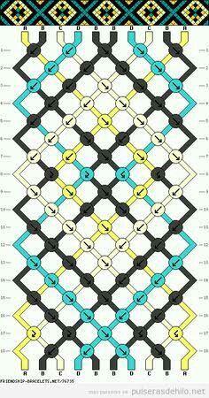 Brazilian bracelet pattern, diamond pattern Full tutorials on this site: braceletbresilien . Thread Bracelets, Embroidery Bracelets, Bracelet Knots, Bracelet Crafts, Macrame Bracelets, Handmade Bracelets, Bracelet Making, Macrame Knots, Loom Bracelets