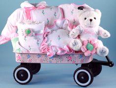 Blossoming Baby Girl Gift Wagon