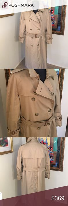 ⭐️BURBERRY MENS LINED COAT/TRENCH AUTHENTIC BURBERRY MENS LINED COAT / TRENCH COAT AUTHENTIC. TRUE HIGH END LUXURY & STYLE. THIS A RARE COAT! THIS ONE HAS THE WOOL ZIP OUR PRINT LINING UNLIKE MOST. THE SIZE IS 48 REGULAR. WITH HAVING A NOCE THICK ZIP OUT LINING IT CAN BE A DAILY COAT . SUCH AM AMAZING COAT. COUPLE TINY SMUDGES. OVERALL A STUNNING COAT! FEEL FREE TO ASK QUESTIONS. Burberry Jackets & Coats Trench Coats