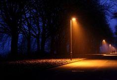 осень, город, поздний вечер