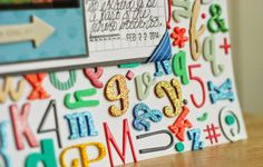 Becki Adams Designs: Let's Talk Tuesday: Using ALL of Your Letter Stickers (tips and examples for using all of your letter stickers.