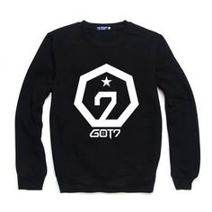 GOT7 Sweater  Stay cosy and warm in style with a GOT7 sweater! These black jumpers are printed with a large GOT7 logo in white.