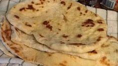 Super Easy Naan Bread Recipe - Genius Kitchen - TRIED IT! Takes about an hour and requires yeast and to roll it out but the sweet naan topped with coconut and honey is our fav! Naan Bread Recipe No Yogurt, Recipes With Naan Bread, Banana Bread Recipes, Naan Recipe Without Yogurt, Easy Naan Recipe, Indian Food Recipes, Vegetarian Recipes, Cooking Recipes, Vegetarian Cooking