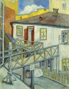DAVID SHTERENBERG Courtyard of the Hotel (1914)