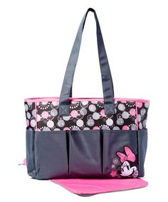 Pink & Gray Minnie Mouse Diaper Tote