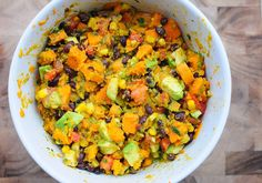 A New Year Resolutions Salad: Cilantro Lime Yam Salad - The Scent Of Oranges