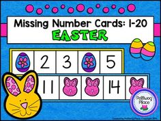 Missing Number Cards: Easter (Numbers 1-20) ($)