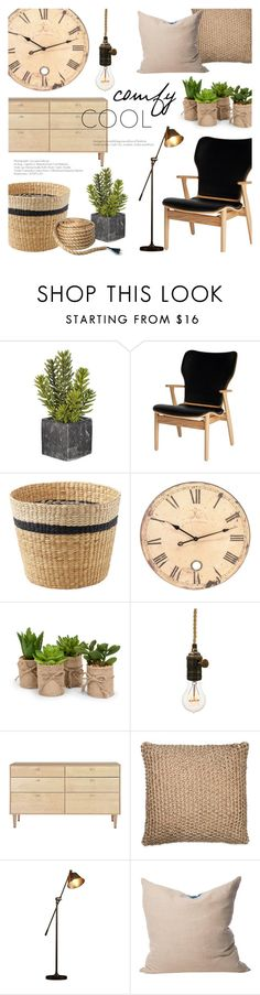 """""""Comfy and Cool Decor"""" by alexandrazeres ❤ liked on Polyvore featuring interior, interiors, interior design, home, home decor, interior decorating, Artek, Design Within Reach, DKNY and EMAC & LAWTON"""