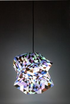 Dazzle lamp, 3D colour printed, prototype by Corneel Cannaerts