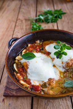 stuttgartcooking: Hähnchenbrust und Gemüse aus dem Backofen,mit Mozzarella überbacken