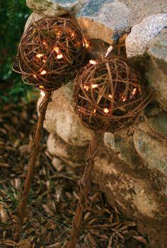 Flower Girl Basket Firefly Lantern Wand Rustic Wedding