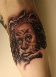 Cowardly Lion Tattoo