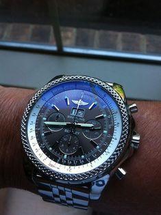 Mens Rolex Yellow Gold Date Blue Diamond (SKU - Watch - Ideas of Watch - Breitling Bentley unreal! Best Watches For Men, Amazing Watches, Fine Watches, Beautiful Watches, Cool Watches, Casual Watches, Men's Watches, Ladies Watches, Watches Online