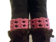 Heart faux leg warmers heart boot cuffs USA ship by CrochetByMel, $20.50