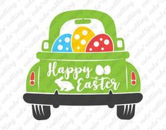 Easter svg Easter truck svg Truck with eggs svg Happy Vintage Clipart, Easter Quotes, Easter Sayings, Wood Burning Patterns, Valentines For Boys, Easter Celebration, Holiday Pictures, Easter Crafts, Easter Dyi