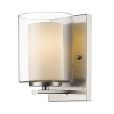 Filament Design Wesson 1-Light Brushed Nickel Wall Sconce-CLI-JB039559 - The Home Depot