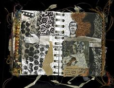 by Ann Bagby---her work is so interesting. Love the glimpses of machine stitched lines. So restrained and effective. Go Ann!