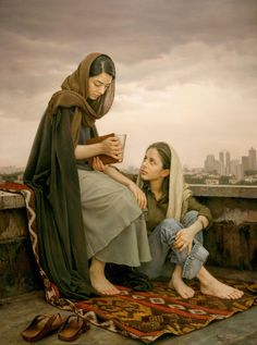 'Omens of Hafez' , made by: Iman Maleki - Oil on canvas