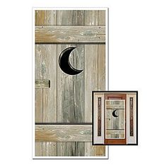 Our Outhouse Door Cover features the look of a real wooden western outhouse door. The outhouse door cover measures 5 feet tall x 30 inches wide.