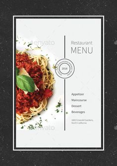 Buy Restaurant Menu by monggokerso on GraphicRiver. Restaurant Menu File Features : Size + Bleed area CMYK / 300 dpi Easy to edit text Well organized PSD fi. Ppt Design, Menue Design, Food Graphic Design, Food Poster Design, Food Menu Design, Carta Restaurant, Restaurant Design, Restaurant Identity, Menu Board Design