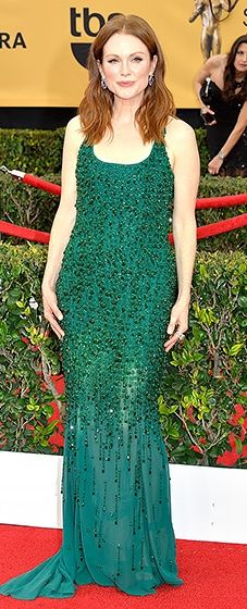 Julianne Moore: 2015 SAG Awards in a glorious green beaded Givenchy dress.