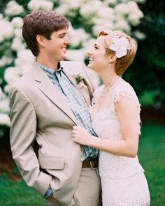 """See the """"Floral Pixie"""" in our 22 Hairstyles That Placed All Eyes on the Bride at These Real Weddings gallery"""