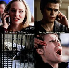 Stefan and Caroline Vampire Diaries Quotes, Vampire Diaries Wallpaper, Vampire Diaries Cast, Vampire Diaries The Originals, Stefan E Caroline, Caroline Forbes, Vampier Diaries, Original Vampire, Frases